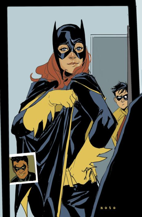 A girl needs to look there best when serving up roundhouse kicks of justice into the faces of Gotham's criminals.     Art by Phil Noto