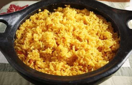 Latin Yellow Rice - Sub Brown Rice | Food | Pinterest