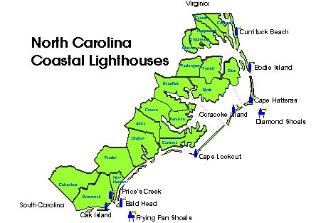 North Carolina Lighthouses  Homepage  Things Of Interest