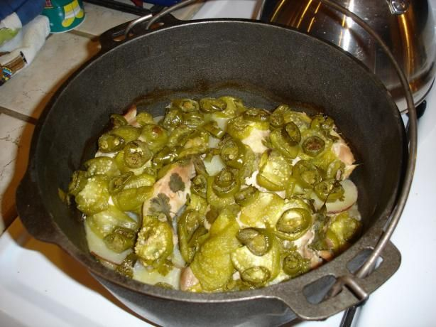Pollo Pulqueros (Chicken, Tomatillo, and Jalapeno Stew) I would add ...