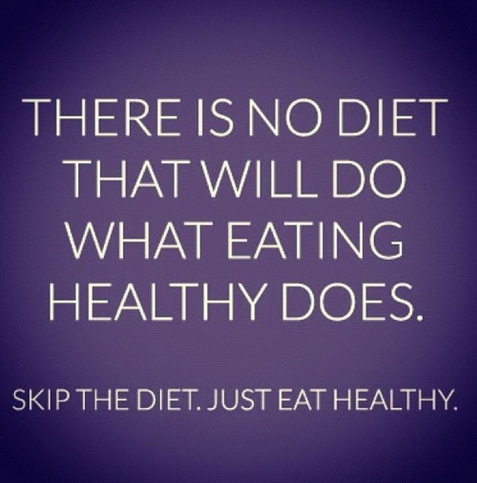 skip the diet just eat healthy motivational quotes