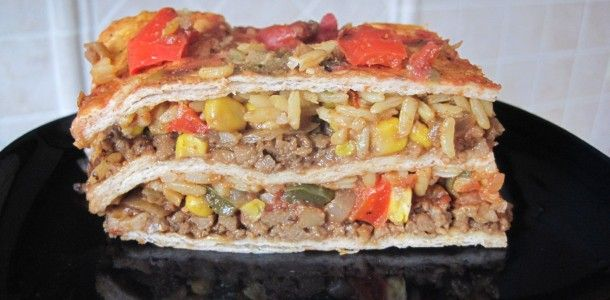 ... Chicken Taco Casserole With Olives, Peppers & Queso Fresco Cheese