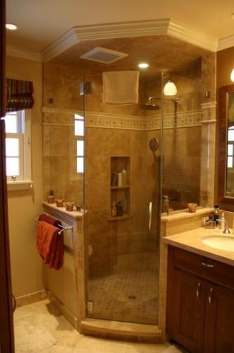 Bathroom Design Half Wall : Shower half wall bathroom ideas