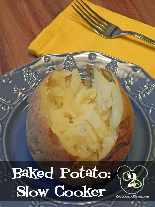 ... baked potatoes. How to easily make baked potatoes in the Crock Pot