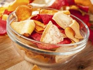 potato chips – try this crunchy oven-baked yam or kohlrabi chips ...