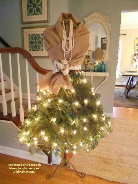 Tree branch skirt on mannequin pic only photograghs for Ideas for dressing a christmas tree