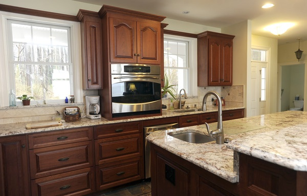 The Cherry Kitchen Cabinets Were Made By An Amish Carpenter In