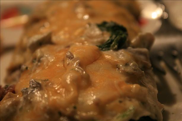 Spinach and Mushroom Enchiladas With Cilantro Cream Sauce | Recipe