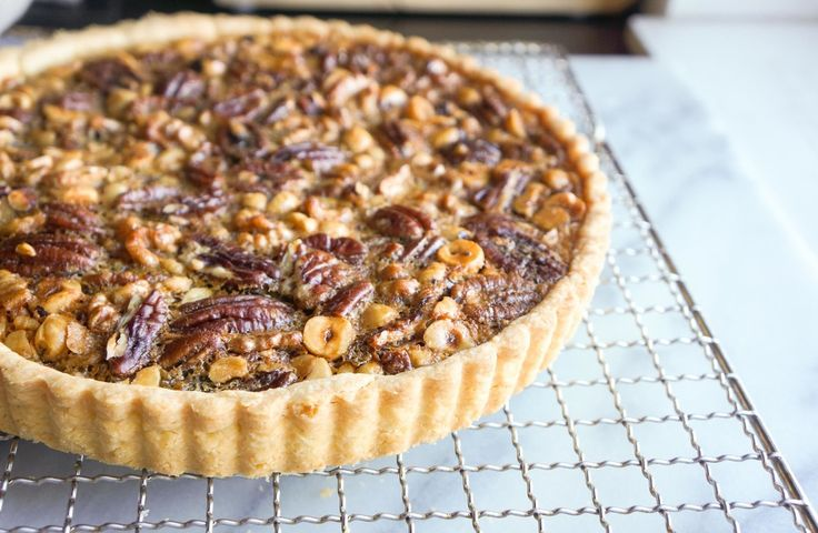 maple nut tart; tender, buttery, salty pastry bed for all that crunchy ...