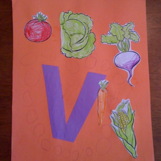 letter v craft preschool activities pinterest