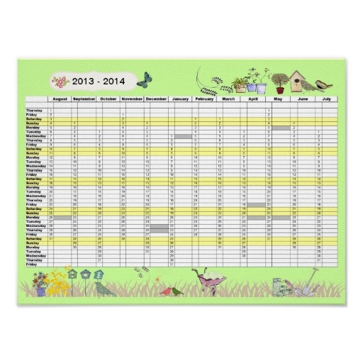 Calendar Planner Uk : Academic year wall planner uk calendar