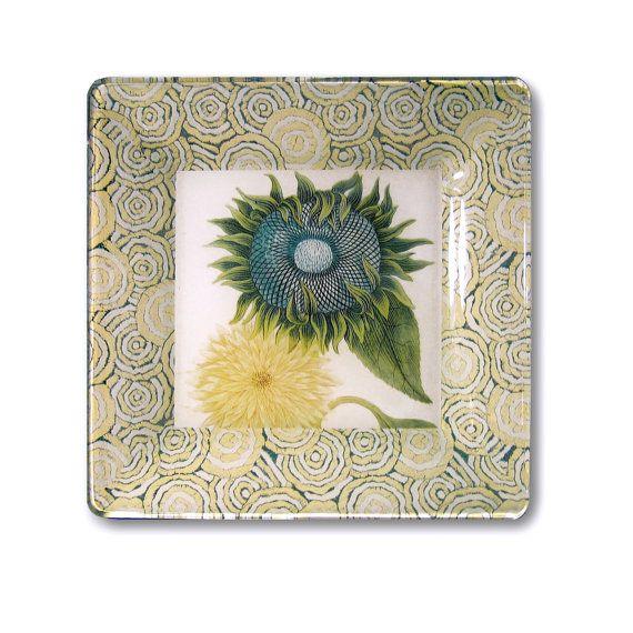 Sunflower naturalist garden decor decoupage by glasspaperscizzors 89