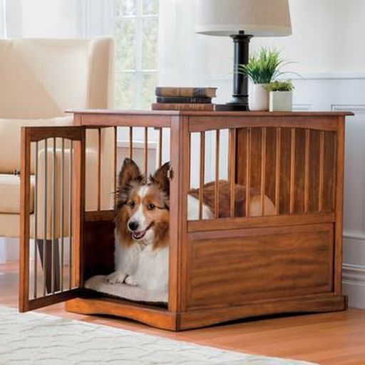 pet crate end tables dogs awesome dog stuff pinterest