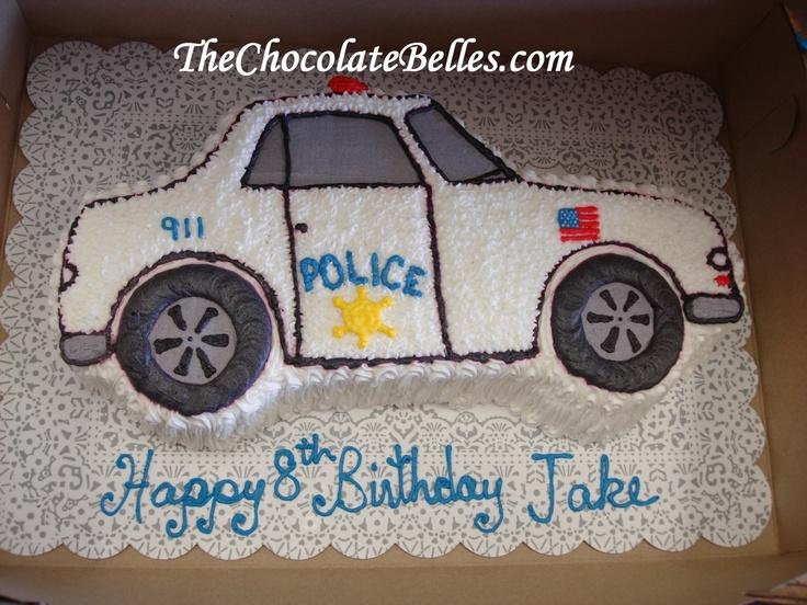 Police Car Birthday Cake Birthday Cakes Pinterest