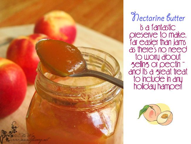 Nectarine butter (Kitchen Wench blog) | Foodie | Pinterest
