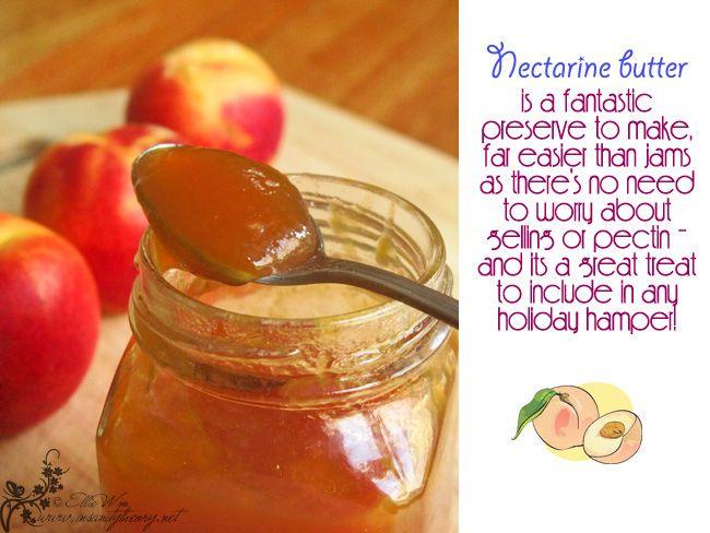 Nectarine butter (Kitchen Wench blog) | Foodie | Pinterest