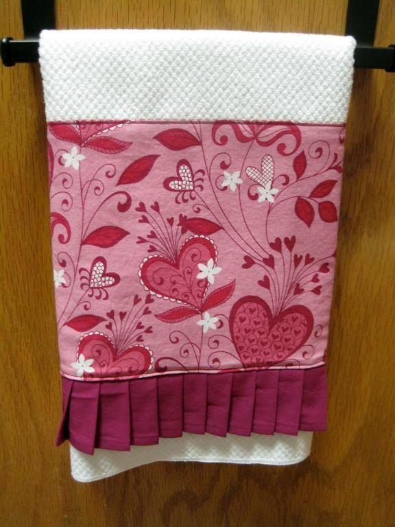 pleated kitchen towels craft ideas pinterest