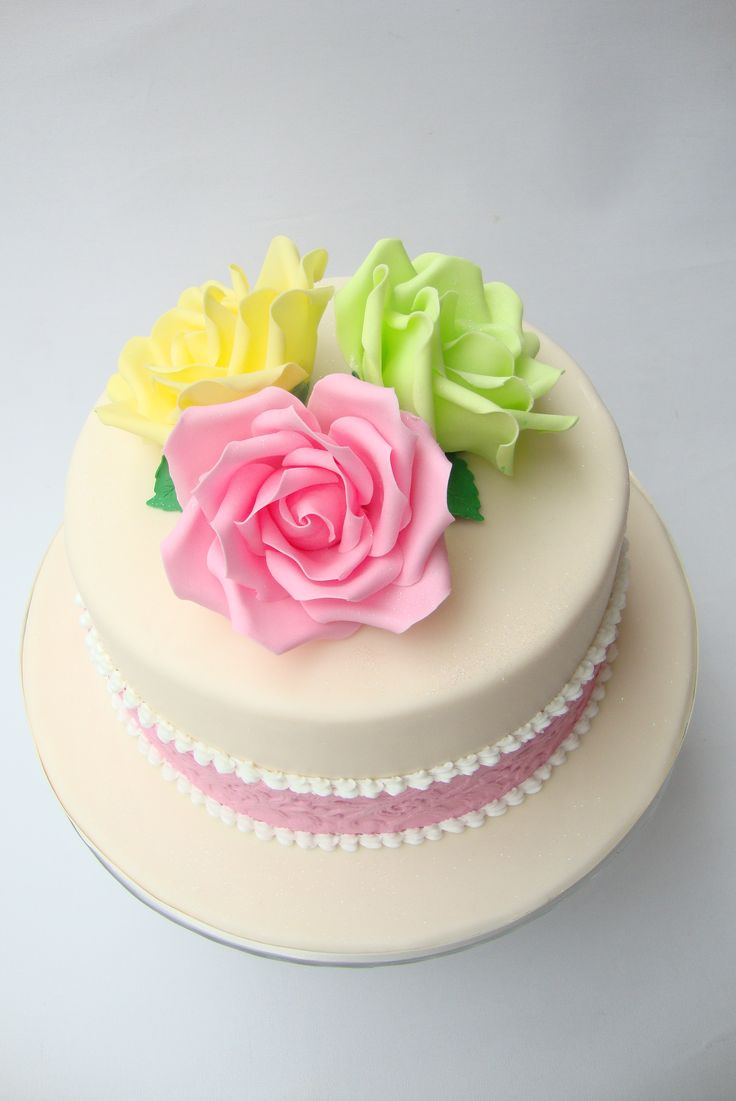 Birthday Cake Pictures Pinterest : Floral Birthday cake My Style Cakes Pinterest