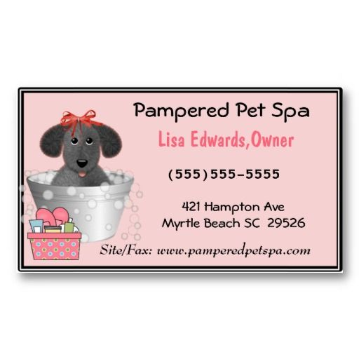 Dog grooming business cards for Pet grooming business cards