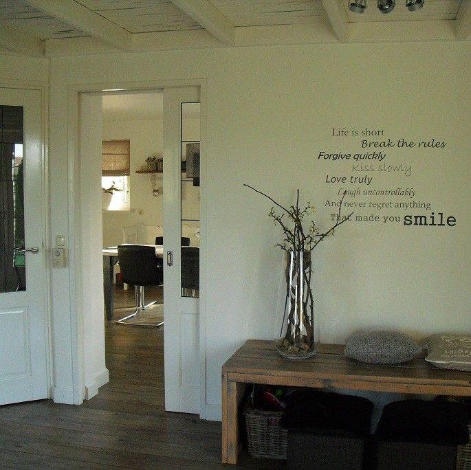 tekst op muur  inspirerende teksten  Pinterest
