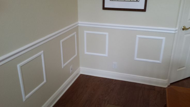 Baseboard and Faux Wainscoting | Baseboard Molding | Pinterest