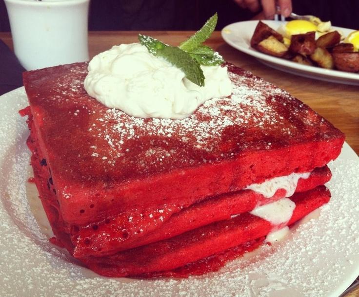 Red Velvet Pancakes @ Green Eggs Cafe | Food | Pinterest