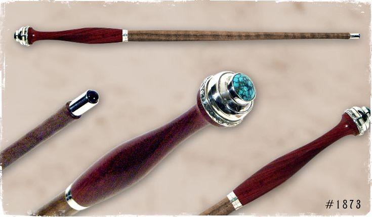 Turquoise & Myrtle wood Wizard Wand  Might and Magic ...