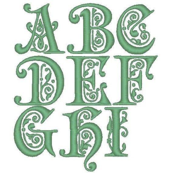 Pes only preciosa font machine embroidery monogram set
