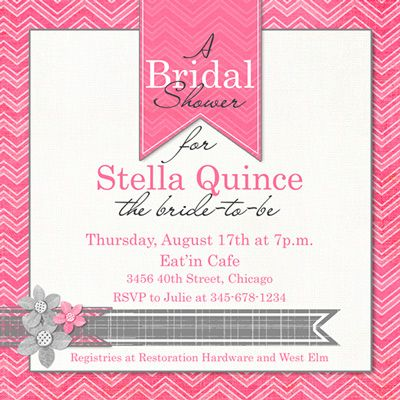 Chevron Bridal Shower Invitations