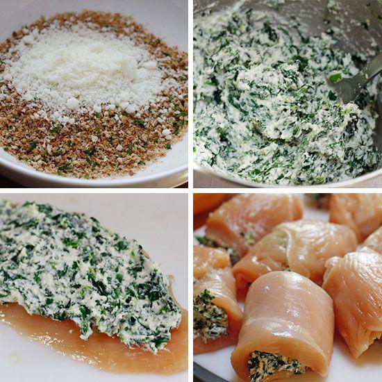 Chicken Rollatini with Spinach alla Parmigiana   Recipe