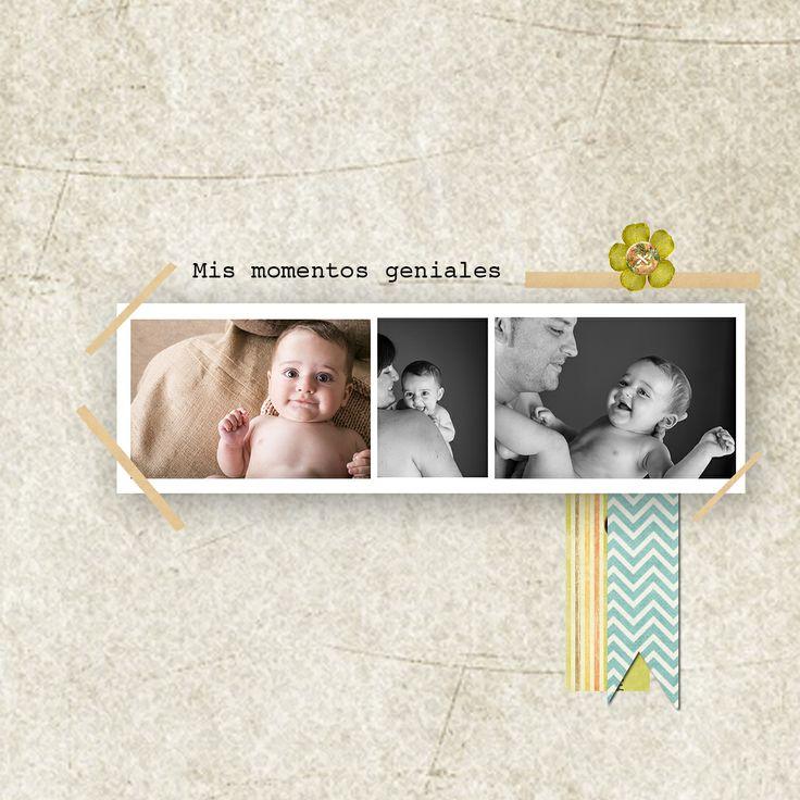 Cubierta de fotolibro de un bebé muy guapo.