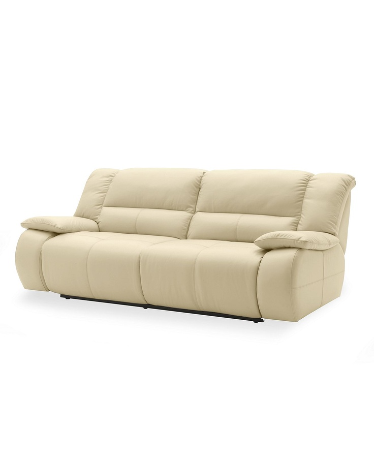 Franco leather sofa double power motion reclining 86quotw x for Macy s reclining sectional sofa