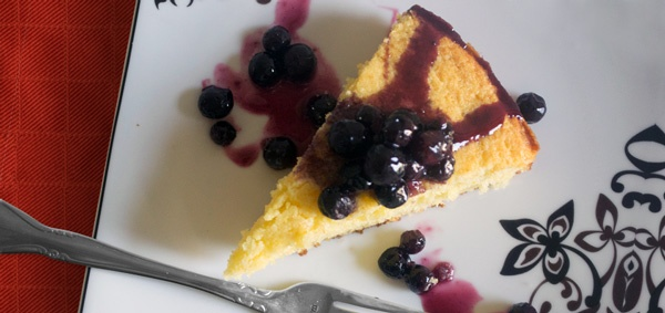 Sweet Corn Cake With Blueberry-Lavender Compote Recipes — Dishmaps