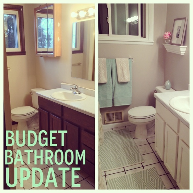 bathroom update on a budget diy pinterest