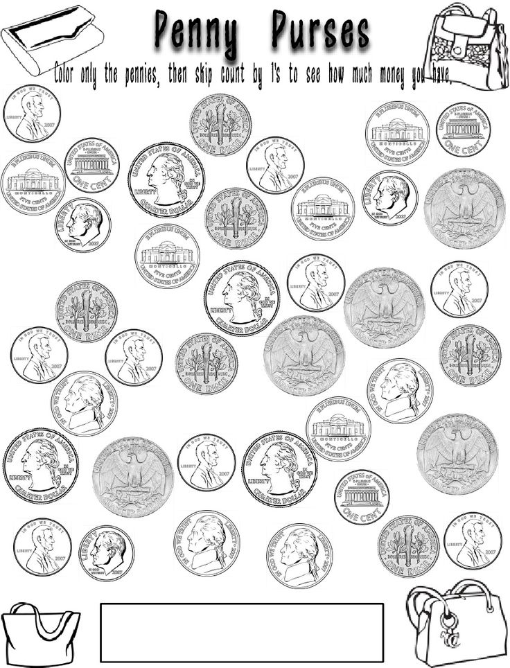 penny nickle coloring pages - photo#26