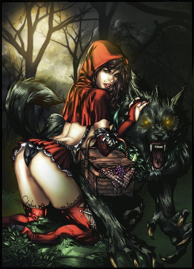 Порнокомикс про красную шапочку аниме