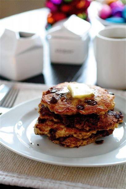 Chocolate Chip Oatmeal Cookie Pancakes | Food | Pinterest