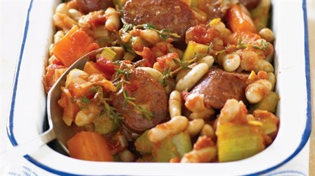 Chorizo And Gigante Bean Cassoulet Recipe — Dishmaps