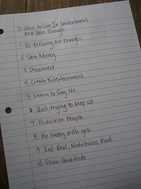 10 Ways To Live In Contentment and Have Enough!!!