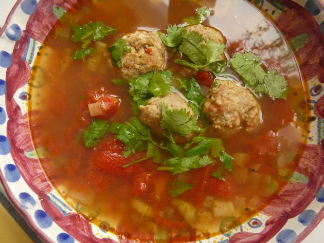 ... Cold Weather Soup: Mexican Style Turkey Meatball Soup : Parentables