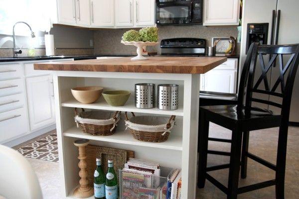 diy open shelf island kitchen pinterest. Black Bedroom Furniture Sets. Home Design Ideas