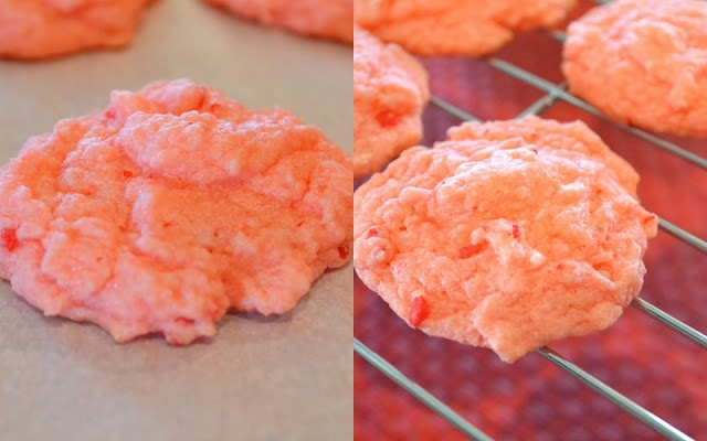 Strawberry Cake Mix Cookies | food! | Pinterest