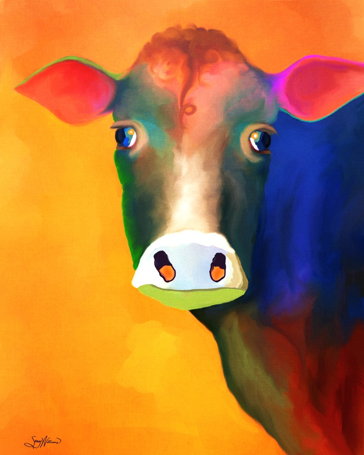 colorful cow | Das Cool, ya? | Pinterest