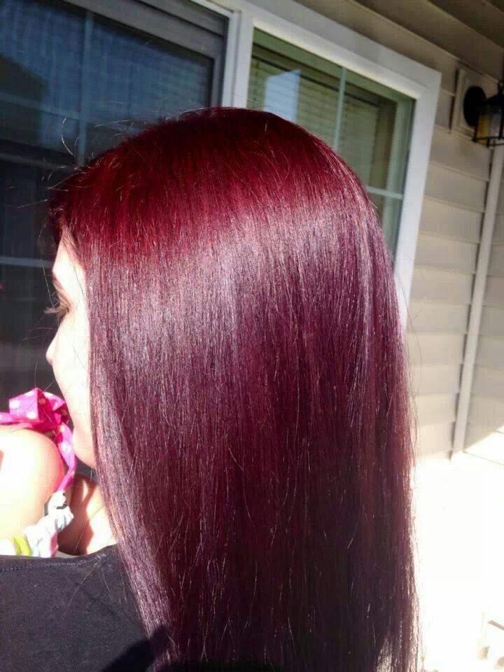 Dark cherry red hair | hair stuffs | Pinterest