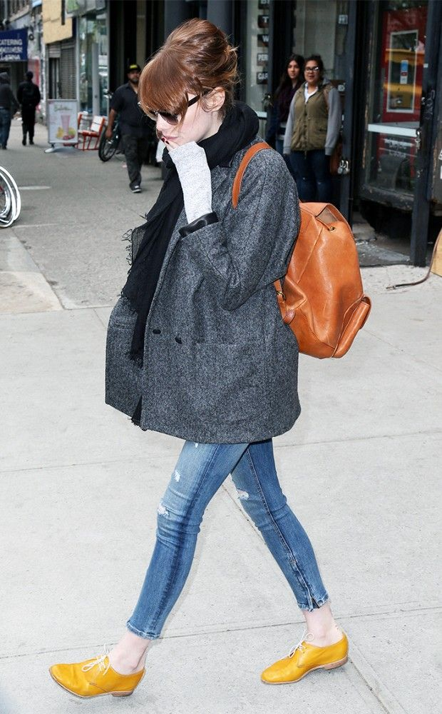 エマ・ストーン私服ファッション画像