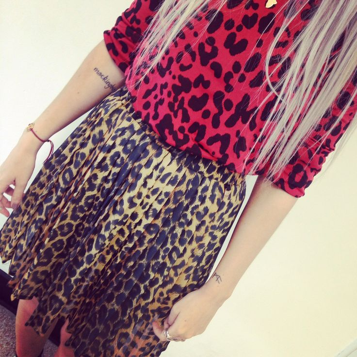 Double leopard print - it must be #fearlessfriday