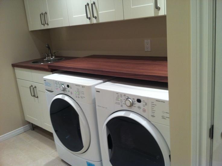 Stunning basement laundry room basement ideas pinterest for Basement laundry room ideas