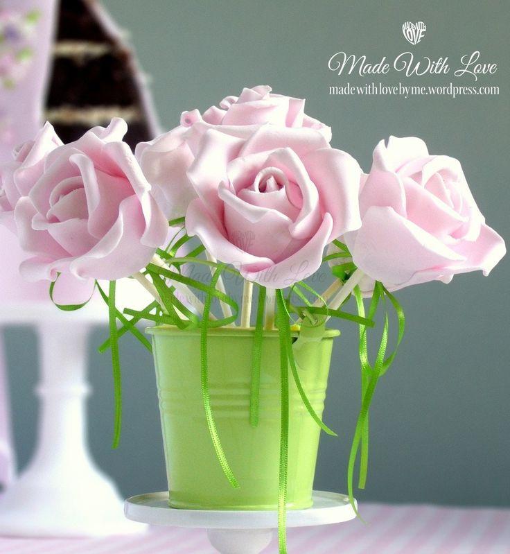 Rose Petal Cake Pops | Cake Pops & Sticks | Pinterest