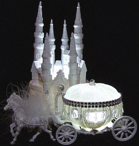 Cinderella Castle Amp Coach Wedding Cake Topper
