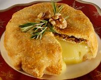 Savory Brie en Croute with toasted walnuts and rosemary
